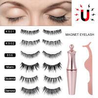 3 Pair Magnetischer Eyeliner Künstliche Falsche Wimpern 3D Eyelashes Make-up Set