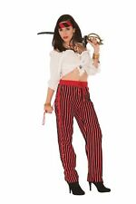 Red Black Striped Pirate Pants Adult Womens Costume Accessory NEW Standard Size