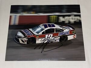 Kyle Busch autographed SNICKERS DARLINGTON THROWBACK VINTAGE 8x10 RACING photo