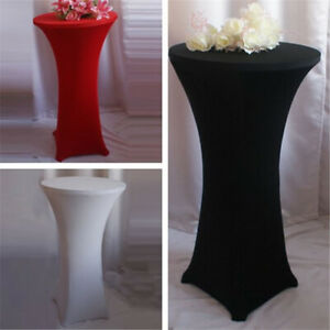 Bar Table Cover Stretchy Cocktail Table Cloth  Party Decor LL