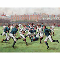Scotland England 1893 Rugby Football Match Painting Extra Large Art Poster