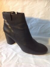 Zara Woman Black Ankle Leather Boots Size 39