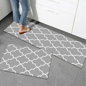 Anti Fatigue Kitchen Rug Floor Mat Waterproof Non Slip PVC Leather Cushion
