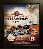 Jackie Bradley Jr Red Sox 2018 ALCS MVP With GU Baseball 15x17 Framed Collage #1