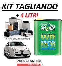 KIT FILTRI TAGLIANDO + OLIO SELENIA 5W30 ALFA ROMEO MITO 1.3 MULTIJET 85CV/95CV
