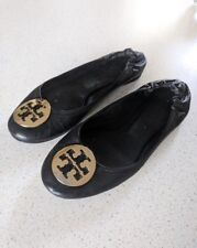 Tory Burch Approx 37 37.5 Reva Black Ballerinas Flats Schwarz Leder Leather