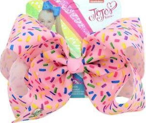 "Jojo 8"" Pink Donut Bow with Sprinkles"