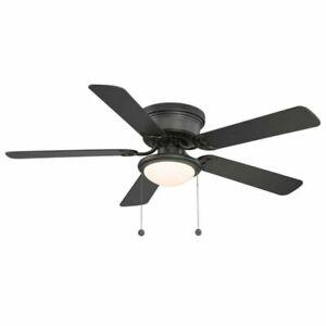 HUGGER AL383LED-BK 52 inch Ceiling Fan with LED Light - Black