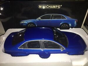 Audi Rs4 Sedan Blue 1/18 Minichamps
