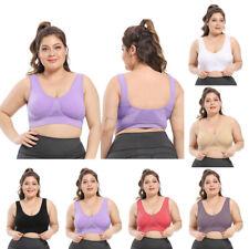 Women's Plus Size Bra Shockproof Breathable Wireless Push-up Sports Underwear