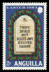 "ANGUILLA 527 (SG550) - ""Thou Shalt not make any Graven Image"" (pa35795)"