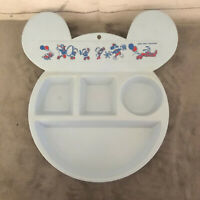 VTG Rare Walt Disney Mickey Mouse Ears Marching Band Divided Plate LARGE