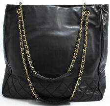 CHANEL CHAIN SHOULDER BAG SHOPPER SCHULTERTASCHE SAC SHOPPING MATELASSE TASCHE L