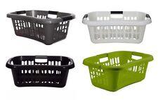 Whitefurze Plastic Hipster Style Washing Laundry Linen Storage Basket W/ Handles