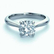 Certified 0.45Ct Round Diamond Claw Set Solitaire Engagement Ring,Platinum.