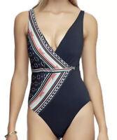 NWT JETS Swimwear Riviera Underwire One-Piece Multicolor Women's Size 8