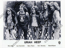 URIAH HEEP 8x10 Photo - LEE KERSLAKE Ken Hensley Box Easy Livin Autograph SIGNED
