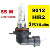 3X 9012 HIR2 Halogen Headlight Bulb Clear Lamp Car Head Lamps Globes PX22d 55W
