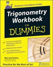 Trigonometry Workbook for Dummies by Mary Jane Sterling (2005, Paperback)