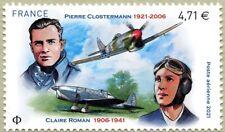 Timbre Poste Aérienne PA85 Neuf** - Pierre Clostermann / Claire Roman - 2021