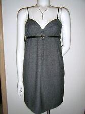 COUTURE by TWELVE Gray Black Women Spaghetti Straps Shorth Length Dress sz. M nw
