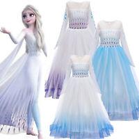 Eiskönigin Kostüm Kleid Frozen 2 Anna Elsa Prinzessin Cosplay Mädchen Partykleid