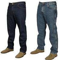 Mens Wrangler Texas Regular Fit Denim Jeans In Stonewash Indigo Sizes 30 To 48