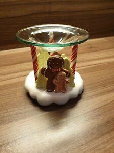 Party Lite Duftlampe Teelichthalter - Lebkuchen - weiß bunt Porzellan - Rarität