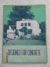 """""""Designed for Concrete"""" (Richard Powers, architect) Home Designs from 1936"""