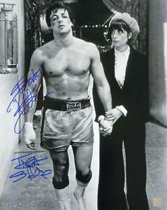 Sylvester Stallone & Talia Shire Autographed ROCKY B&W 16x20 Photo ASI Proof