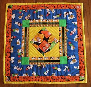 Peanuts It's The Great Pumpkin Charlie Brown Handmade Miniature Quilt REDUCED