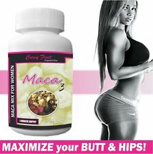 Maca 3 Capsules ONLY For Women:Red,Black & Yellow Mix for BIGGER Butt and Hips