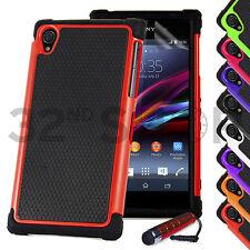 SHOCK PROOF CASE COVER FOR Sony Xperia Z1 / Z Ultra / Z / Z2 SCREEN PROTECTOR