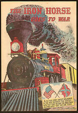 1960 IRON HORSE GOES TO Civil WAR American Railroad Assn. PROMOTIONAL GIVEAWAY
