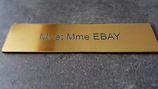 Plaque gravée pour boite aux lettre avec adhésif,étiquette 10 cm x 2.5 cm