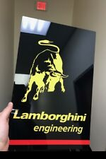 Premium HD Panel Aluminum  Lamborghini Racing  Reproduction Garage Sign