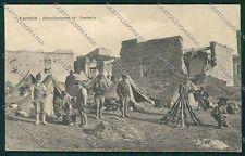 L'Aquila Cerchio Terremoto Militari cartolina QQ3980