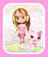❤️Littlest Pet Shop LPS BLYTHE B9 #1856 Fashion Cats Pink Kitten & Doll❤️