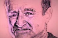 Robin Williams Portrait Painting by Artist on Poster - Celebrity Art Print