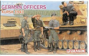 Dragon WWII German Officers, KURSK 1943, 4 Figures in 1/35  6456   ST