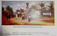 Case Hill Climbing Steam Engine Tractor Postcard to Hilda Kogen Hayfield MN 1908