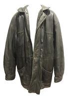 Men's VTG Wilsons LG Black Leather Coat + Thinsulate Lined Winter Heavy Warm