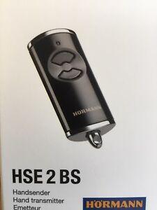 Hormann Garador Black  HSE 2 BS remote Bi secure  genuine remote.  4 Button