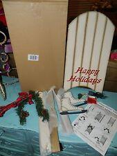 Christmas Lighted Holiday Sled Decoration w/Hanging Ice Skates Unassembled NEW!