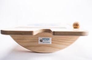 GOOD WOOD Balance Training Gleichgewichts Wippe Wackelbrett Made in Germany