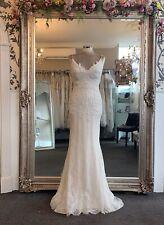 Blue By Enzoani Kami Wedding Dress Size 8, Ivory/sand