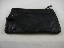 Capezio Black Patchwork Leather Small Clutch Bag NEW Shoulder Strap Vintage