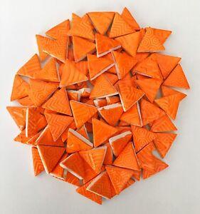 ORANGE CERAMIC Mosaic Triangles Tiles