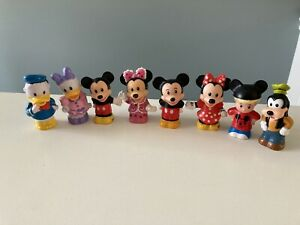 little people mickey mouse, minnie, donald duck, goofy, etc 8 lot
