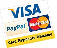 Paiements carte bienvenue paypal 150x120mm carte de crédit en vinyle autocollant taxi boutique